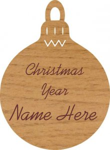 Christmas Bulb Alder Wood Ornament