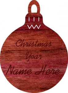 Christmas Bulb Purpleheart Wood Ornament