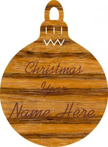 Christmas Bulb Zebrawood Wood Ornament