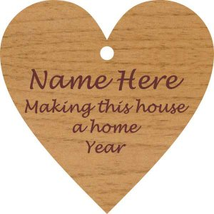 Heart/ Make This House a Home Alder Wood Ornament