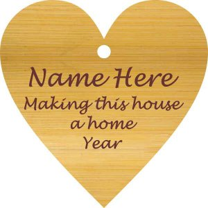 Heart/ Make This House a Home Bamboo Wood Ornament
