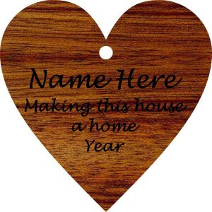 Heart/ Make This House a Home Bloodwood Wood Ornament