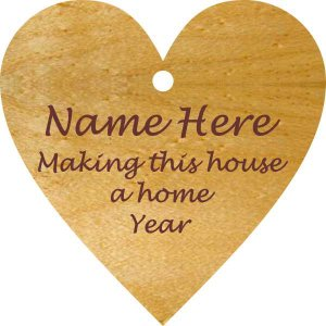 Heart/ Make This House a Home Maple Wood Ornament