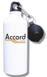 Accord Flooring Water Bottle - White