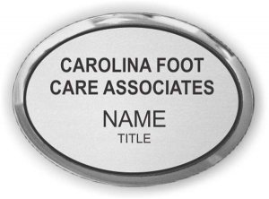 Carolina Foot Care Associates Oval Executive Silver badge