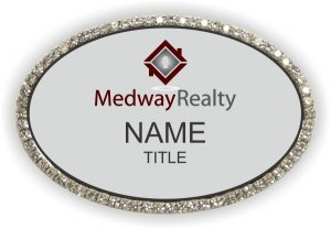 Medway Realty Oval Bling Silver badge