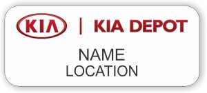Kia Depot Standard White badge