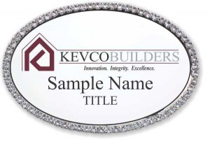 Kevco Real Estate Services Oval Bling Silver Other badge
