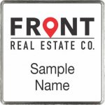 Front Real Estate Co. Square Executive White badge