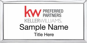 Keller Williams Preferred Partners Silver Executive White Badge