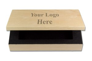 Personalized Wood Name Badge Box
