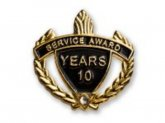 Service Award Black/Gold Pin