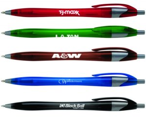 Javalina Jewel Plastic Pens with Black or Blue Ink