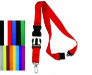 Lanyard with Breakaway Buckle Clip and Detachable Keychain