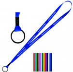 Polyester Lanyard with Metal Split Ring