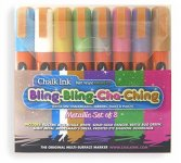 Chalk Ink Metallic Set of 8 Wet Wipe Markers