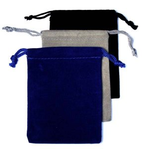 Velour Name Badge Pouches - Assorted Colors