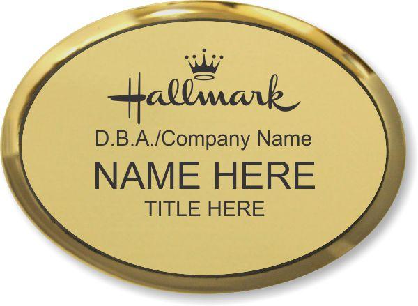 Halmark Oval Gold Executive Name Badge