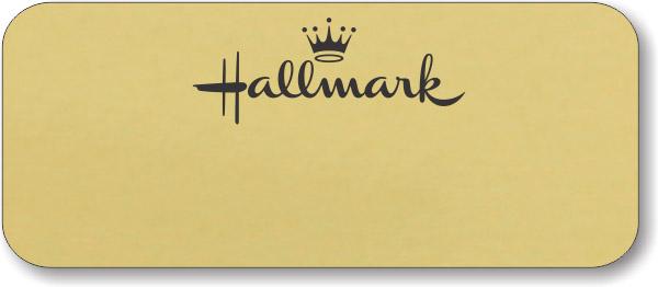Hallmark Gold Logo Only Name Badge
