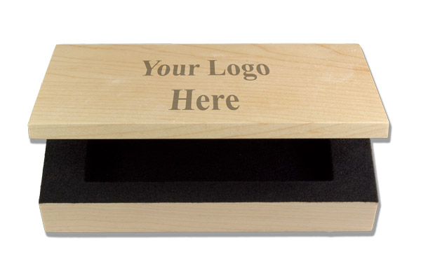 Personalized Wood Name Badge Box - Click Image to Close