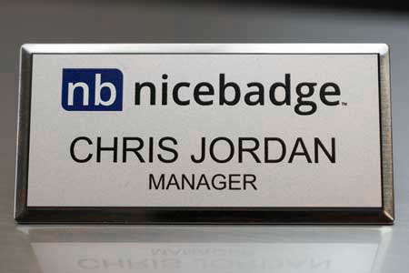 Silver Executive Name Badge