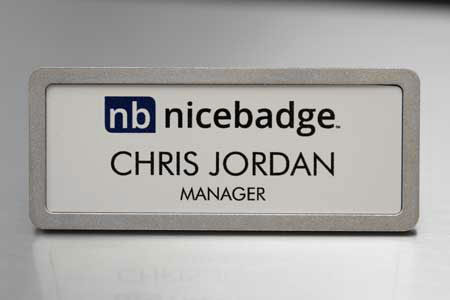 Prestige Name Badge Pebbled Frame
