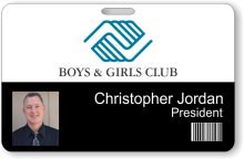 Boys and Girls Club Barcode ID Badge