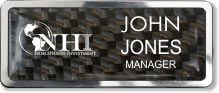 Polished Frame Investment Company Name Badge