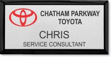 Black and Silver Executive Name Badge