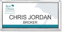 Color Executive Name Badge