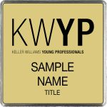 Square Executive Gold Name Badge