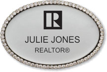 Luxury Bling Oval Name Badge