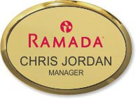 Gold Oval Executive Name Badge
