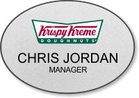Custom Shaped Oval Name Badge