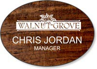 Maple Wood Standard Name Badge