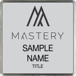 Square Executive Silver Name Badge