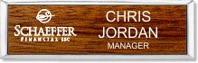 Small Executive Maple Wood Name Badge