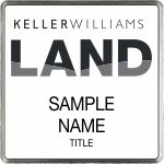 Square Executive White Name Badge