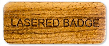 Lasered Wood Name Badge