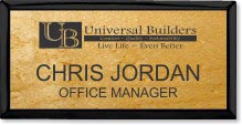 Large Purpleheart Wood Executive Name Badge