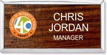 Large Maple Wood Executive Name Badge
