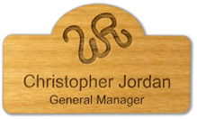 Custom Maple Wood Name Badge